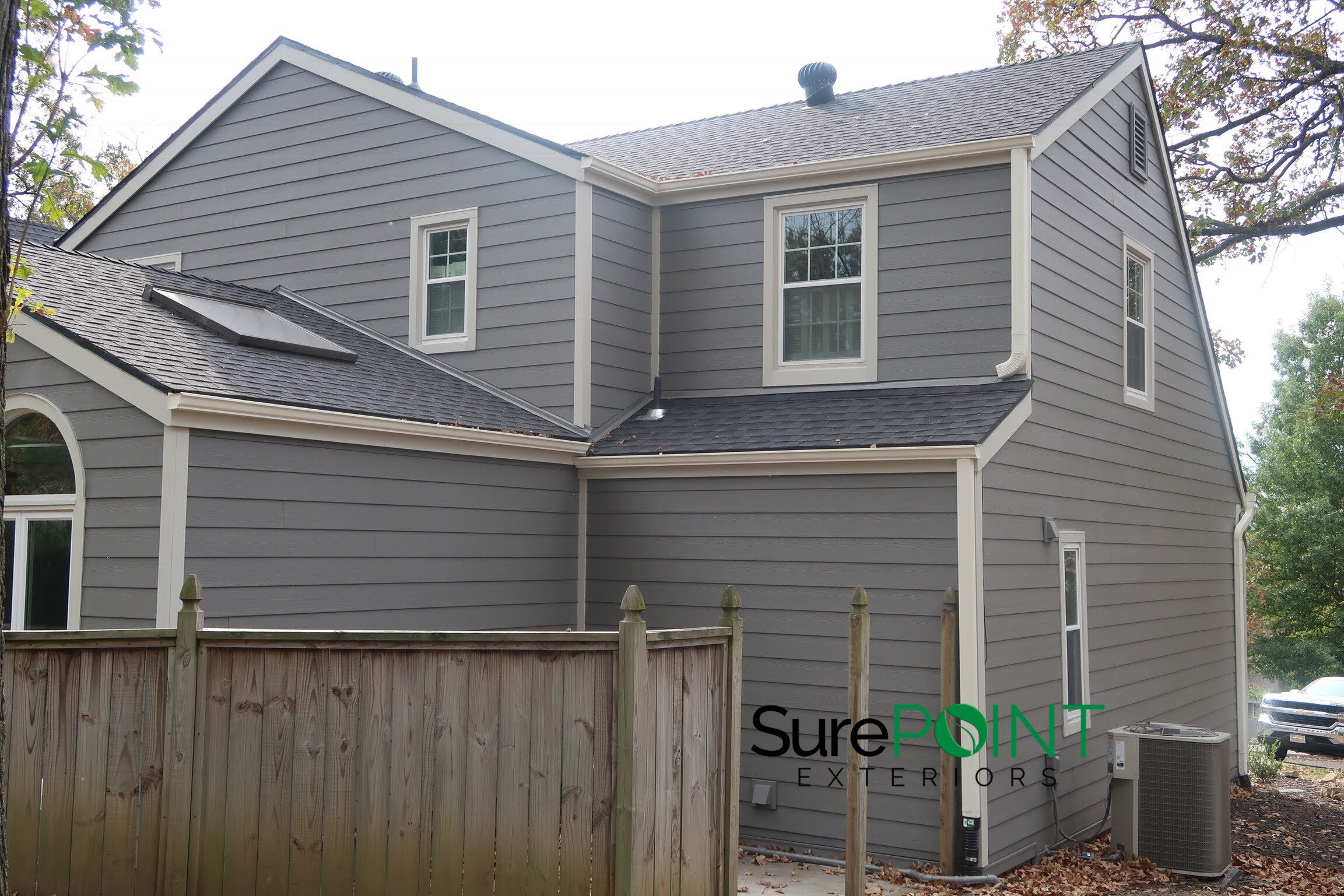 Aged Pewter Siding Leawood Ks James Hardie Siding Installation Kansas City